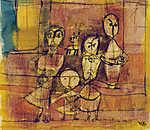 Paul Klee: Kinder und Hund (id: 12117) vászonkép óra