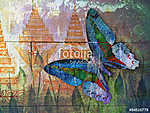 butterfly( Thai background ) (id: 13817)