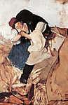 Hollósy Simon: Tengerihántás (1885) (id: 19717) poszter