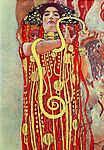Gustav Klimt: Hügieia (id: 20317) vászonkép óra