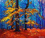 Őszi erdő (id: 4417) falikép keretezve