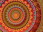 Bright Mandala (id: 13018) falikép keretezve
