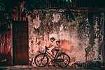 Kerékpáros graffiti (id: 14318) falikép keretezve