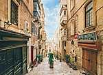 Valletta-i utcakép, Málta (id: 17418) falikép keretezve