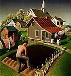 Tavasz a kisvárosban (id: 19518) vászonkép