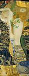 Gustav Klimt: Vizikígyók I. (id: 19818) vászonkép óra
