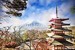 Mt. Fuji a bukás színeivel Japánban. (id: 9418) poszter