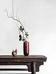 Keleti kompozició piros vázában (id: 17319)