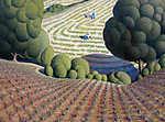 Grant Wood: Kukoricaföld (id: 19519) vászonkép óra