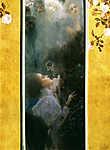 Gustav Klimt: Szerelem (id: 19819) falikép keretezve