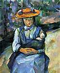 Paul Cézanne: Lány babával (id: 419) poszter