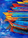Csónakok napnyugtakor (id: 4219) poszter