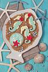 Tengeri cookie-k (id: 5419) vászonkép óra