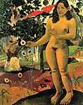 Paul Gauguin: Te Nave Nave Fenua - Elragadó föld (id: 919) falikép keretezve