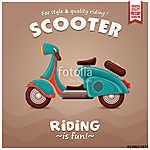 Vintage Scooter plakáttervezés (id: 11820)