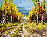 Oil Painting - gold autumn (id: 16420)