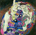 Gustav Klimt: Szüzek (színverzió 1.) (id: 19820) többrészes vászonkép