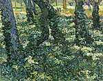 Vincent Van Gogh: Erdei aljnövényzet (id: 2920) vászonkép óra