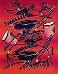 Afrikai zene 003 - Digital Art (id: 3620) bögre