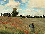 Pierre Auguste Renoir: Pipacsamező - színverzió 1. (id: 12021) falikép keretezve