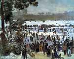 Pierre Auguste Renoir: Korcsolyázók a Bois de Bologne parkban (id: 1421) vászonkép