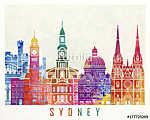 Sydney landmarks watercolor poster (id: 15221)