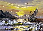Sailing boat on a decline (id: 16421) falikép keretezve