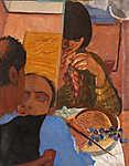 Derkovits Gyula: A szőlőevő (id: 18621) tapéta
