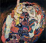 Gustav Klimt: Szüzek (színverzió 2.) (id: 19821) vászonkép óra