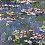 Claude Monet: Tavirózsák (1916) (id: 3021) vászonkép óra