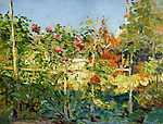 Gustave Caillebotte: Virágoskert Trouville-ben (id: 3121) falikép keretezve