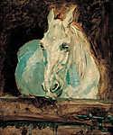 Henri de Toulouse Lautrec: Gazella a fehér ló (id: 4021) vászonkép óra