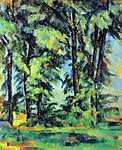 Paul Cézanne: Magas fák Jas de Bouffan-ban (id: 421) falikép keretezve