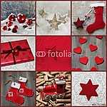 Karácsonyi kártya piros színben (id: 5021) bögre