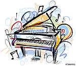 Zongora vázlat (id: 10322) falikép keretezve