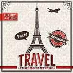 Vintage Paris Travel vakáció plakát (id: 11822) falikép keretezve