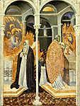 Giovanni di Paolo: Sziénai Szent Katalin csodálatos úrvacsorája (id: 12022)