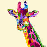 colorful wildlife mammal fauna giraffe (id: 15622) poszter