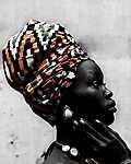 Afrikai nő (id: 17822) falikép keretezve