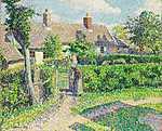 Camille Pissarro: Parasztház Eragny-ban (id: 2722) vászonkép