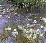 Claude Monet: Tavirózsák (1925) (id: 3022) többrészes vászonkép