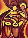 Afrikai zenészek 01 - Digital Art (id: 3622) vászonkép óra