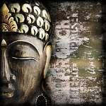 Fa buddha maszk grunge (id: 5522) vászonkép
