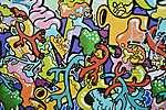 Graffiti, Lyon, Franciaország (id: 17123) falikép keretezve