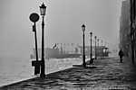 Velencei ködös nap, Olaszország (id: 17423) falikép keretezve