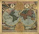 Antik világtérkép, 18. század (id: 2323) tapéta