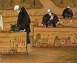 Hugo Simberg: A halál kertje (részlet) (id: 4123) többrészes vászonkép