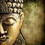 arany Buddha (id: 5523) vászonkép óra