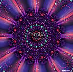 Mandala of fractal Spirits (id: 13024) falikép keretezve