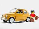 LEGO - Utazás FIAT 500-sal (id: 16924) többrészes vászonkép